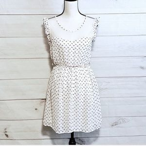 Forever 21 White Sleeveless Floral Dress